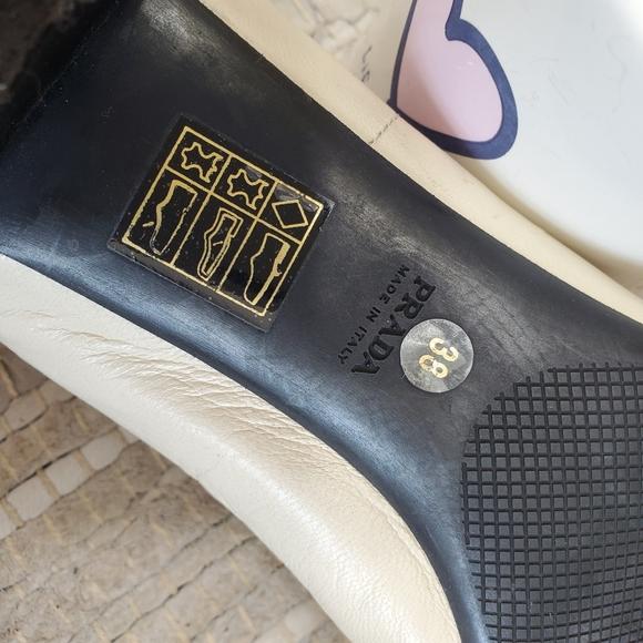 Prada Shoes | Prada Kitten Heel Bow Leather Shoes | Poshmark